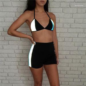 Designer 2pcs Costume da bagno estate Sexy Bikini Riflettente Bikini Lady Bagnatura Vestiti Donne Spiaggia Costumi da bagno femminile Abbigliamento moda donna