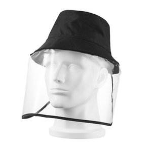 Sun-Protective Hat With Transparent Mask Ultraviolet-proof Cap Anti-Dust and Anti-Droplet Cycling Mask Bucket Hat