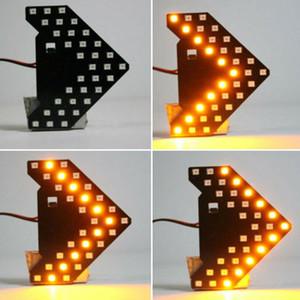 1Pc DC12V 33SMD 7000K LED Желтый автомобиль Автомобиль зеркало заднего вида лампы Стрелка Рулевое управление поворотник Световой индикатор автомобиля Стайлинг