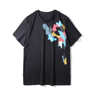 Camiseta para hombre de moda de alta calidad de estilista camiseta de los hombres las mujeres del estilo de la calle ocasional de Hip Hop camisetas de manga corta