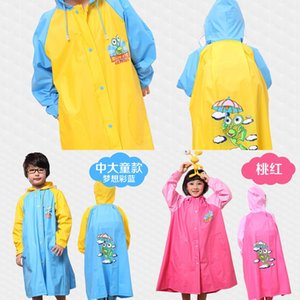 Smurfs students' raincoat Bag Cloak cloak with schoolbag children's raincoat widened boys' and girls' pupils thickened poncho