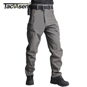 TACVASEN Men Fleece Pants Winter Warm Softshell Tactical Trousers Camouflage  Army Pants  Hunt Hike Trousers