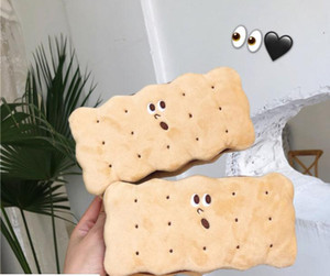 Creative biscuit Pencil Bag Plush girl heart large capacity student pencil box cartoon office stationery box storage pencil bag cute