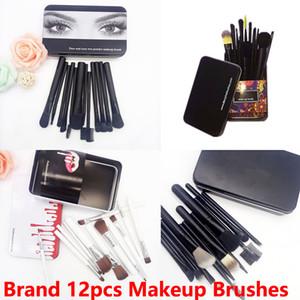 Marca 12 pcs escova da composição kit Fundação Blending Pó Eyeshadow Contour Concealer Blush Maquiagem Cosméticos Ferramenta Em estoque