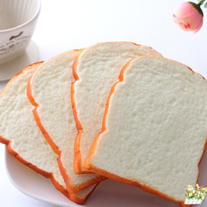 Funning Hand Pillow Gift Mobile Phone Strap Soft Bread Scented Home Kitchen Decor 1PCS Jumbo Squishy Sliced Toast Toy