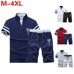 Sports Male Tracksuit Clothing Summer Men Set Fitness Suit Sporting Suits Short Sleeve T Shirt Shorts Quick Drying 2 Piece Set