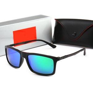 Top Quality Glass Lens Pilot Vintage Eyewear Men Women Sunglasses UV400 Brand Design ray Unisex Mirror Sun Glasses ban Better Case Sticker