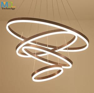 Modern art led ristorante lampadari a soffitto ingegnere lampade nordiche atmosfera rotonda ciondolo luce camera da letto infissi ac110-240v