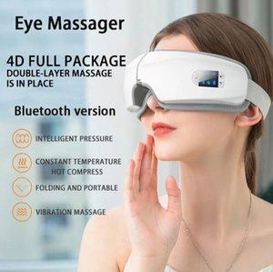 электрические вибрации Bluetooth устройства для глаз массажера ухода за глазами морщины усталости избавляет vibation массаж горячего компресса терапия стекло