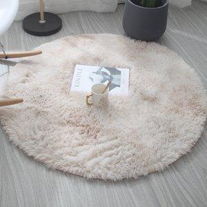 Colorful Super Soft Warm Round Carpets Living Room Bedroom Rug Non-slip Soft Carpet Modern Luxury Carpet Mat Child Bedroom Safe Mat