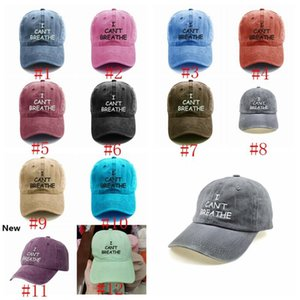 I Can't Breathe Baseball Cap Outdoor Sports Embroidered Baseball Cap Fashion Summer Sunscreen Snapback Hat Party Hat Supply RRA3138