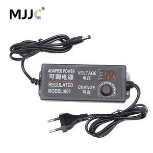 Regulada Power Adapter Tensão ajustável motorista 5V 12V LED 24V 2A 3A 5A exibição Fonte de alimentação Iluminação Transformer