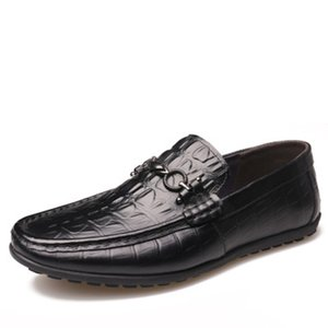 Men Loafers Quality Genuine Leather Comfortable Brand Men Flats Driving Flats Shoes Men Loafers casual