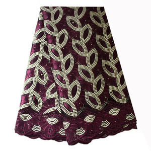 Tessuto francese in pizzo Teal Green Beaded African African Tessy in pizzo 2019 tessuto ricamato pizzo di alta qualità per abiti da sposa nigeriana