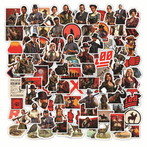 108 Pcs Top Game Red Dead Redemption 2 Series Stickers For Notebook PC Skateboard Bicycle Motorcycle DIY Waterproof Toy Sticker