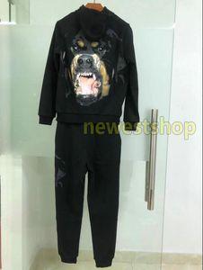 2020 new Luxury Hooded Jacket Sweatshirt Suit Zipper Hooded Jacket mens big dog print Casual Tracksuit Outwear Pants Designer Sport suit