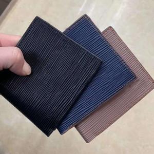 de cuero de los hombres calientes del cortocircuito de negocios titular de la tarjeta monedero Monedero MT exclusivo titular de la tarjeta de la caja Caja de regalo de alta calidad monedero del diseñador de moda clásica