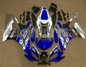 vendite calde nuovo ABS carenature del motociclo Kit si adattano per YAMAHA YZF-R6 YZF600 2006 2007 R6 Carrozzeria impostati personalizzata gratuita Blu Bianco Argento