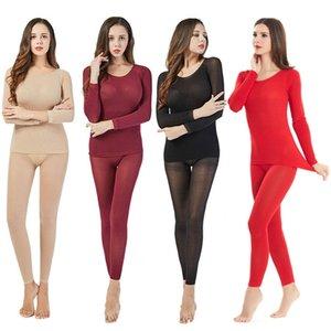 Femmes Sous-vêtements thermiques Règle 37 ° température constante contre la fièvre froide d'hiver 2Pcs transparente élastique thermique intérieure Porter