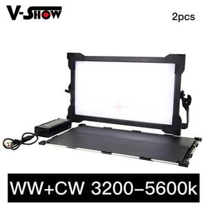 Llevó el panel de vídeo luz de la pantalla + WW CW 3000-6000K LCD con pantalla táctil de control DMX luz del panel LED de video