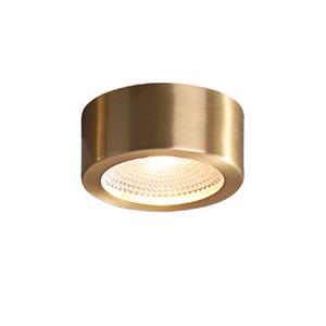 Modern cobre teto Iluminação LED redondo teto luminária interior Sala Quarto Lamp Hotel Loft cozinha de teto
