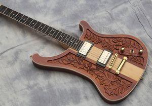 Yüksek Kalite Elektro Gitar, Boyun vücut oyulmuş gitar aracılığıyla, ceviz gövdesi
