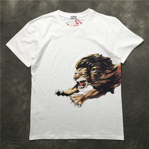 20ss mens t shirts tee paris behind letters Little lion print clothes short sleeve shirts Men Women real New