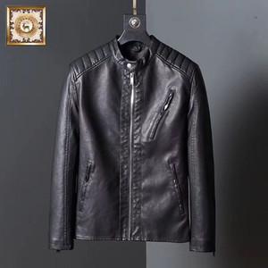 avai Erkekler moda PU deri ceket sonbahar / kış yeni İngiliz erkek deri ceket motosiklet ceket erkek ceket 3 renk - # 108