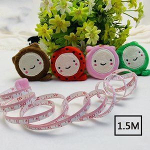 Cartoon Plush Tape Measure Cute Animals Fruits Smile Measure Ruler Retractable Tape Measures Flexible 150cm 60inch Sewing Tool VT0320
