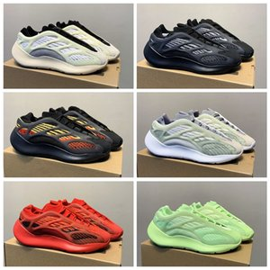 New Alvah Azael 700 V3 Kanye West Mens Running Shoes Glows In The Dark Red Green Yellow Pink Outdoor Trainers Women Sport Sneakers