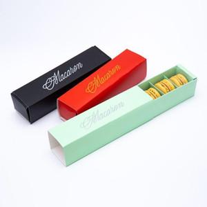 6 couleurs Macaron bonbons mariage d'emballage cadeau de faveurs boîtes laser papier 6 grilles Chocolats boîte / biscuits LX6255