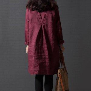 EaseHut Retro primavera-estate 2020 elegante Nazionale Applique manica lunga Mori ragazze di un pezzo Dress Plus Size Abiti MX200518