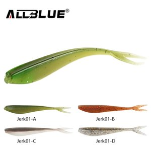 ALLBLUE 12pcs lot 1.5g 7.5cm Soft Jerk Bait Fishing Lure Shad Jerkbait Soft Silicone Bass Minnow Bait Swimbaits Split Tail Peche