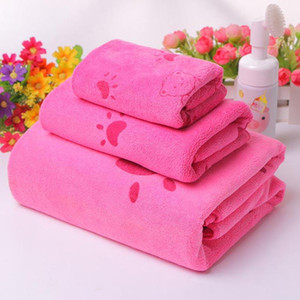 3pcs Towel Microfiber Fabric Bathrobe Hand maojin Girl Women Summer Bath Towel Children Cartoon Towel toalla microfibra gdg