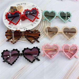 TTLIFE Baby 2020 Heart Kids Óculos De Sol Moda Novo Amor Plástico Óculos De Sol Rosa Rapazes UV400 Óculos De Sol Okulry Oculos
