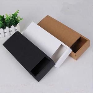 Eco-Friendly Крафт бумага Подарочная упаковка коробки для ювелирных изделий Мыло Выпечка Пекарня Торты Печенье Шоколад Упаковка Упаковка коробка 225 * 95 * 45мм