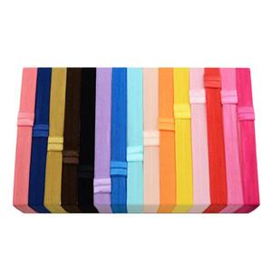 100pcs / Lot Kid ragazze della fascia del cotone Headwear fascia elastica dei capelli di Hairband Stretch copricapo Accessory Drop Shipping