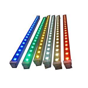 Spotlight RGB Led Wall Washer esterna del LED lineare impermeabile costruzione a parete Illuminazione Wall Washer Paesaggio Lampade 85-265V 24V
