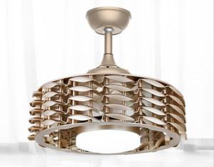 Neue moderne deckenventilator lichter keine klinge dc fan lampe fernbedienung schlafzimmer esszimmer wohnzimmer high-end 110 v 220 v deckenventilatoren 48 watt llfa