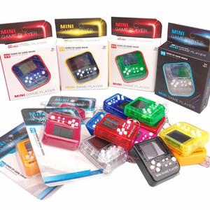 휴대용 미니 레트로 클래식 테트리스 게임 콘솔 키 체인 LCD 휴대용 게임 플레이어 전자 완구 키 체인 상자 포장 함께