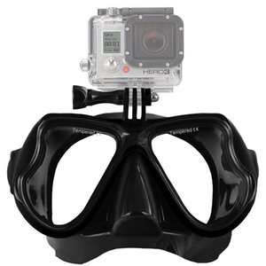 4 colors Underwater Scuba Diving Mask Professional Snorkel Swimming Goggles Compatible Gopro Camera Anti Fog Coated Tempered Glass
