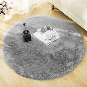 Flauschige Runde Teppich Teppiche für Wohnzimmer Dekor Kunstpelz Teppich Kinderzimmer Lange Plüsch Teppiche für Schlafzimmer Shaggy Bereich Wolldecke Moderne Matte D19011201
