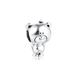 CKK Theo Bear Charms 925 Original Fit Pandora Bracelet Sterling Silver Charm Beads for Jewelry Making Bead kralen berloques