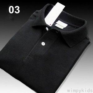 Camisa de cocodrilo de alta calidad de los hombres pantalones de algodón de lavado de agua de lavado sólido verano homme camisetas para hombre polos camisas poloshirt e01