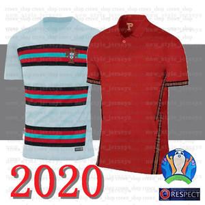 Red Blank Portugal Soccer Jersey RONALDO J.MOUTINHO BERNARDO Coupe du Monde Hommes 2020 Football Accueil court-circuitent camiseta de futebol