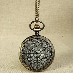 FOB 시계 빈티지 청동 톤 스파이더 웹 디자인 체인 펜던트 생활 방수 남성의 회중 시계 생일 기념일 선물 # 5