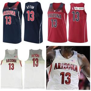 Taslak İlk Seçimi Arizona Wildcats Deandre Ayton Formalar Donanma Kırmızı Üniversite Basketbol 24 Andre Iguodala Üniversitesi Dikişli