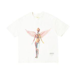 FEEAR OFF ХОРОШО СОВМЕСТНОЕ Angel Printed Сыпучие High Street рубашки Женщины Мужчины Пара Проектировщик с короткими рукавами футболки HFXHTX252