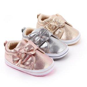 Baby Girls Shoes Bowknot Prewalker Sneaker Cotton Kid Casual Anti-slip Soft Sole Toddler Footwear First Walker