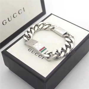 bonita da forma para homens e mulheres de aço de titânio cadeia carta pulseira pulseira sem pulseira caixa pode ser atacado